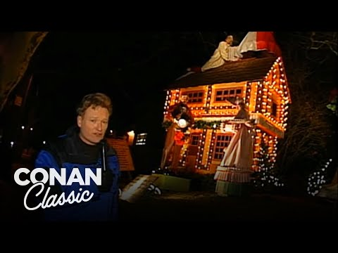Conan Checks Out The Christmas Lights In Dyker Heights