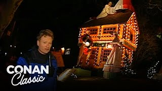 "Conan Checks Out The Christmas Lights In Dyker Heights - ""Late Night With Conan O"