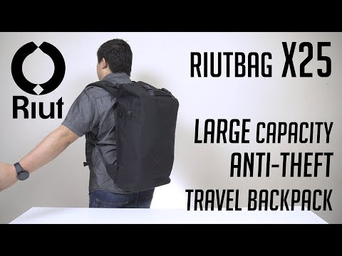 RiutBag X25 - Large Anti-theft Travel Backpack | Detailed Overview