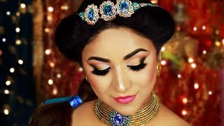 Princess Jasmine Hair & Makeup Tutorial 2019