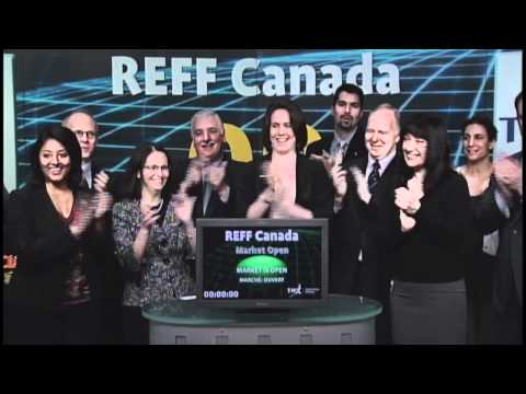 Renewable Energy Finance Forum opens Toronto Stock Exchange, April 27, 2012.