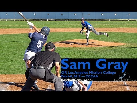 Sam Gray, OF, Los Angeles Mission College