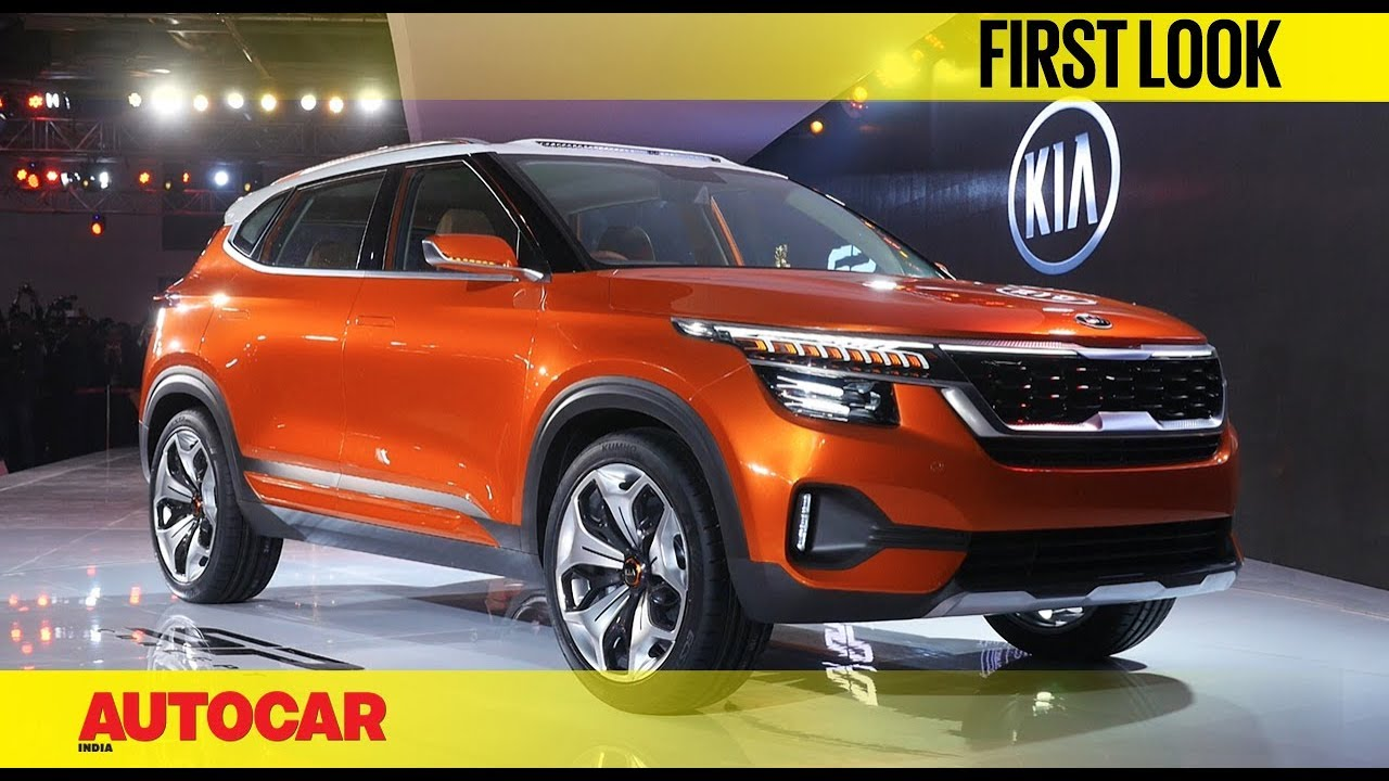 Kia first car for India -SP Concept | Auto Expo 2018 | First Look | Autocar India - YouTube
