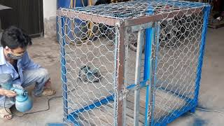 Làm chuồng chó đẹp bằng lưới thép rọ đá