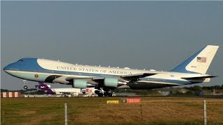Air Force One Action at London Stansted Airport | VC-25, C-5M, C-32 & More