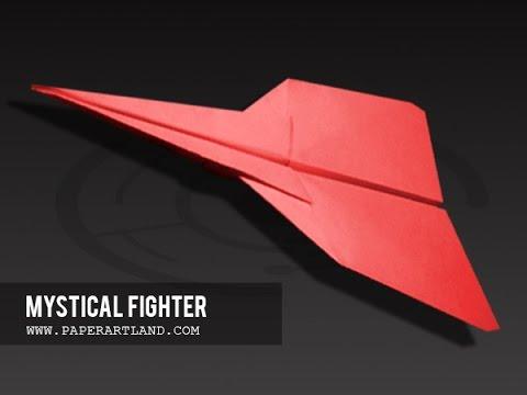 Papierflieger selbst basteln. Papierflugzeug falten - Beste Origami Flugzeug | Mystical Fighter
