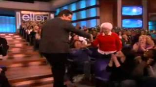jim carrey dances with an old lady and humps her leg