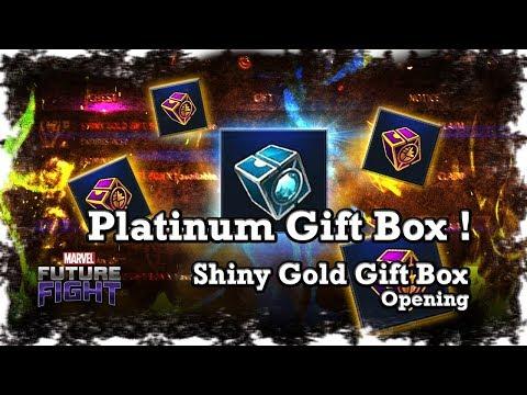 Marvel: Future Fight - Platinum Gift Box & Shiny Gold Gift Box Opening !!
