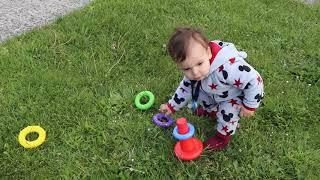 kids play in hte garden ,kids boys