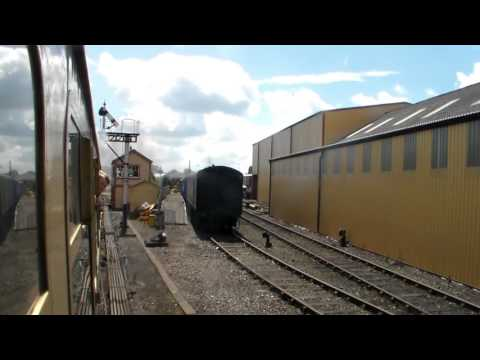 An ride behind GWR 9600 on the Tyseley Locomotive Works demonstration line (27th June 2015)