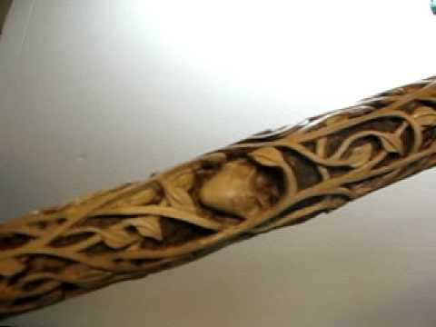 Wooden Cane Designs New Staff.AVI -...
