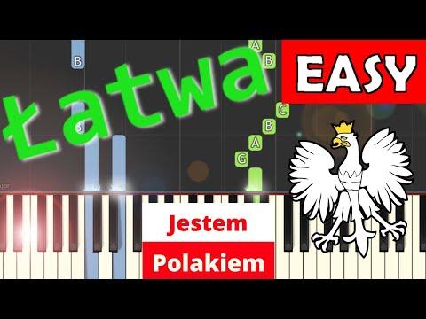 🎹 Jestem Polakiem - Piano Tutorial (łatwa wersja) 🎹