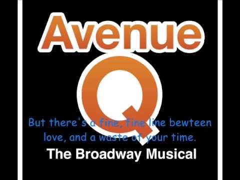 Avenue Q - There's a Fine, Fine Line Lyrics