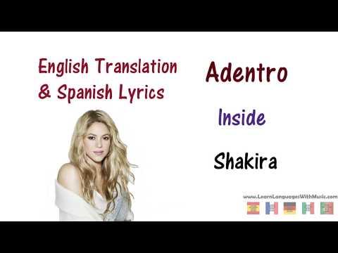 Shakira - Adentro (La La La) Lyrics English and Spanish