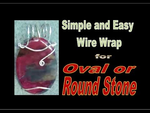 Simple and Easy Wire Wrap TUTORIAL - Oval or Round Stone (Part 1) | Liz Kreate