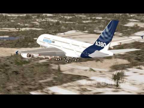 Airbus A380 Landing at Port Columbus International Airport