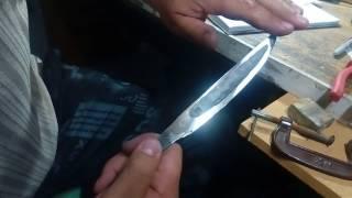 Клинок якута с плоскими спусками