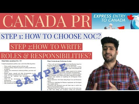 How To Choose NOC | How To Write Roles And Responsibilities| Express Entry Canada