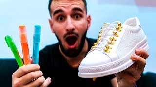 JE CUSTOM DES SNEAKERS !