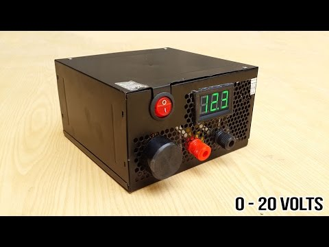 How to make adjustable 1 to 20 voltage power supply from old