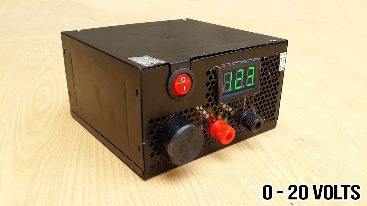 How To Make Adjustable 1 To 20 Voltage Power Supply From