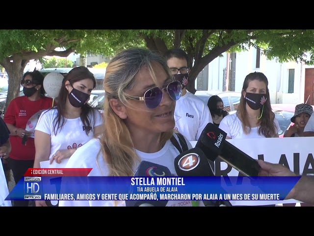 Stella Montiel  Marcha pidiendo justicia por Alaia a un mes de su muerte