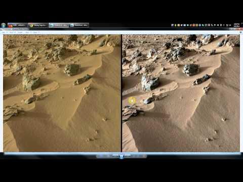 Fake Mars Photos ! - PROOF! - NASA has doctored mars photos!