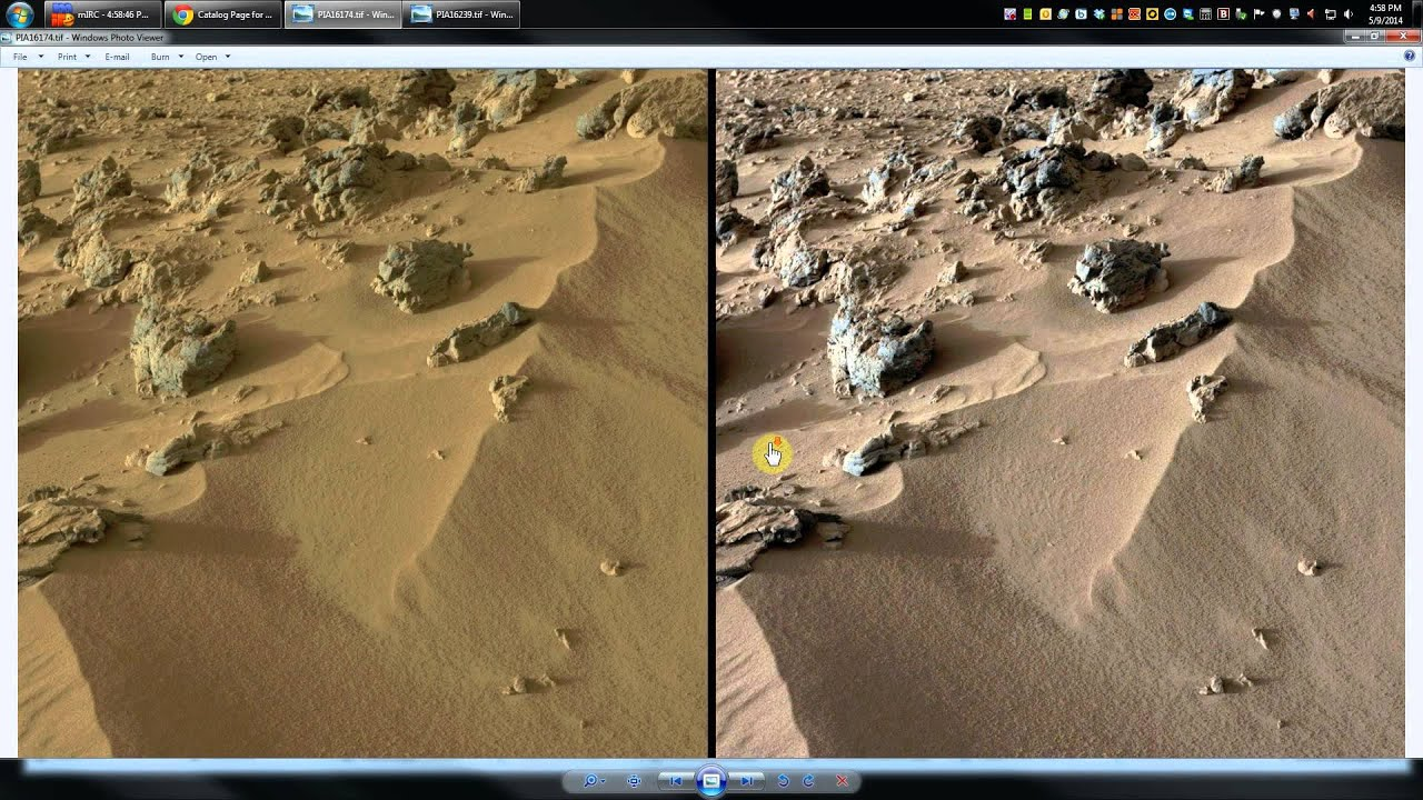 Fake Mars Photos ! - PROOF! - NASA has doctored mars ...