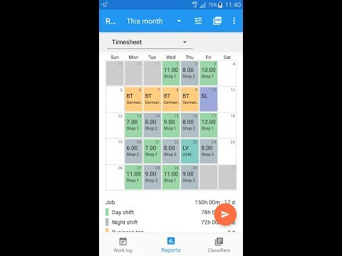 express worklog timesheet work time tracker apps on google play