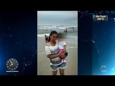 Homem coloca fogo em ex-mulher e em bebê em Caxias do Sul-RS   SBT Brasil (04/11/17)