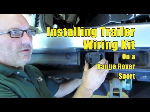 Installing Trailer Wiring Kit on a Range Rover Sport