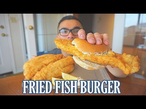 Fried Fish Burger Recipe