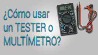 Como usar un multímetro o tester | Tutorial básico