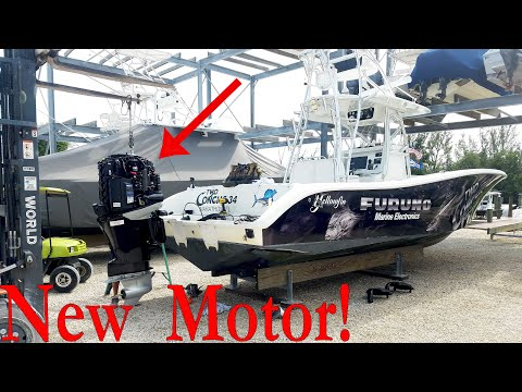 Replacing An Outboard Engine!
