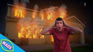 DIY House Fire Halloween  Decoration!! Ft: Matthias!