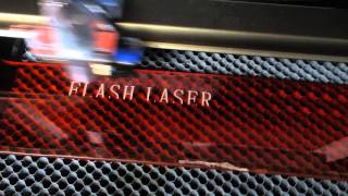 40W laser engrave and cut acrylic, laser acrylic cutter, FL-K40, china laser test