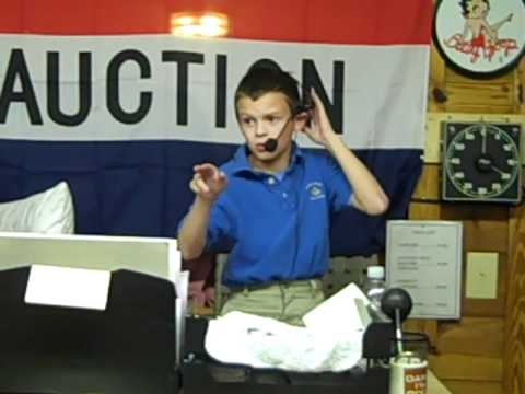 Talented Kid auctioneer, Bradley Thompson doing his thing!