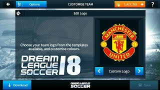 How To Import Manchester United logo And kits In Dream league Soccer 2018!!