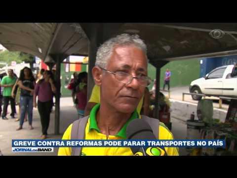 Greve contra reformas pode parar transportes no país