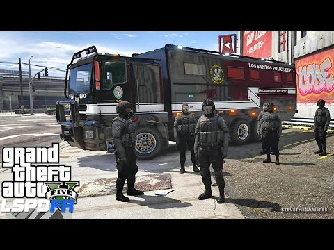 LSPDFR EPiSODE 414 - SWAT/ MILITARY (GTA 5 REAL LIFE POLICE MOD)