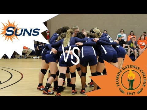 8/23/18 JUFL Lady Suns vs Florida Gateway College Wolves- Women's Volleyball