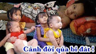 Ứa nước mắt với hoàn cảnh và 4 đứa con nheo nhóc của người phụ nữ đáng thương - Guufood