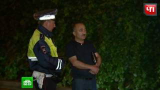 В пешеходной зоне Москвы задержали водителя BMW