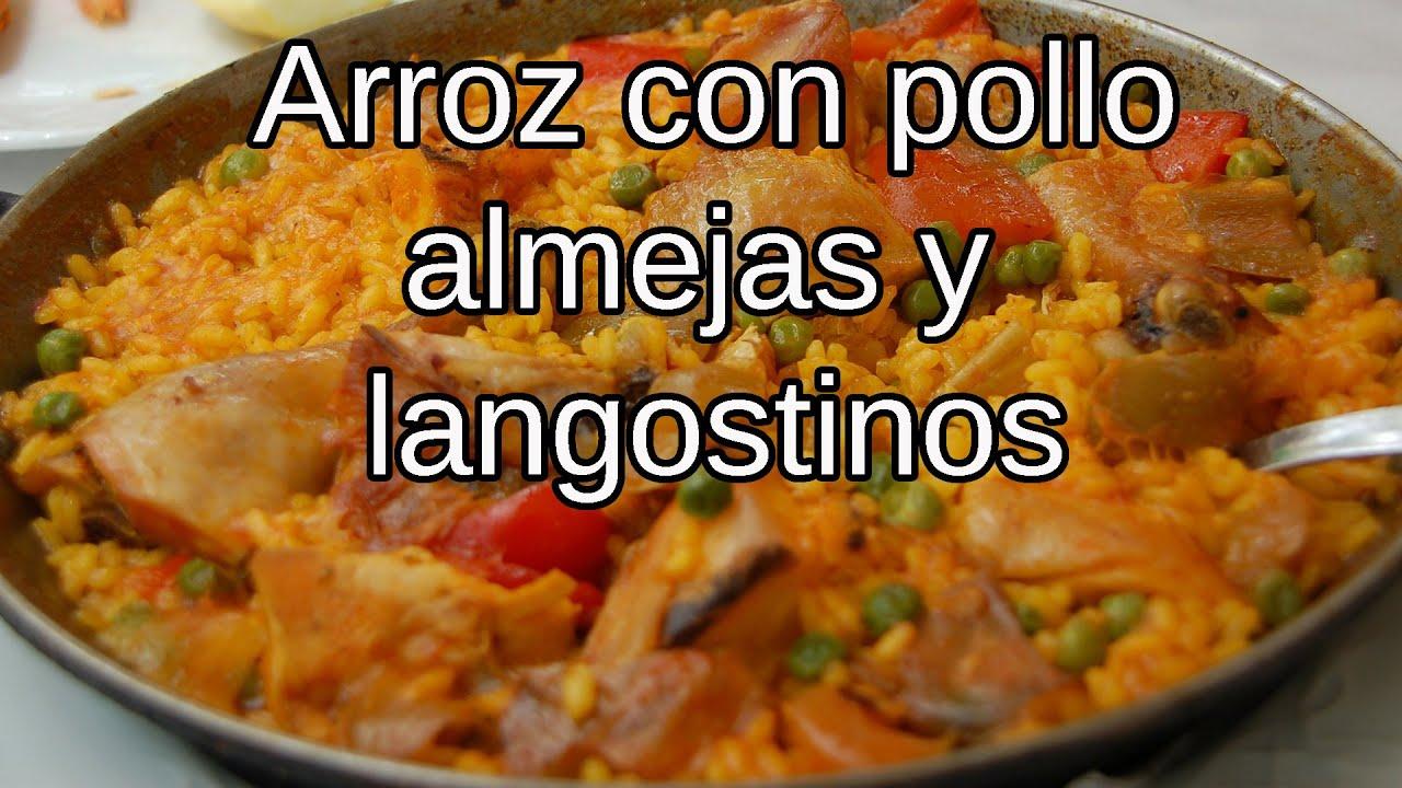 Arroz con pollo almejas y langostinos youtube - Arroz con gambas y almejas ...