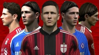 Torres from FIFA 04 to 15 (Face Rotation and Stats)