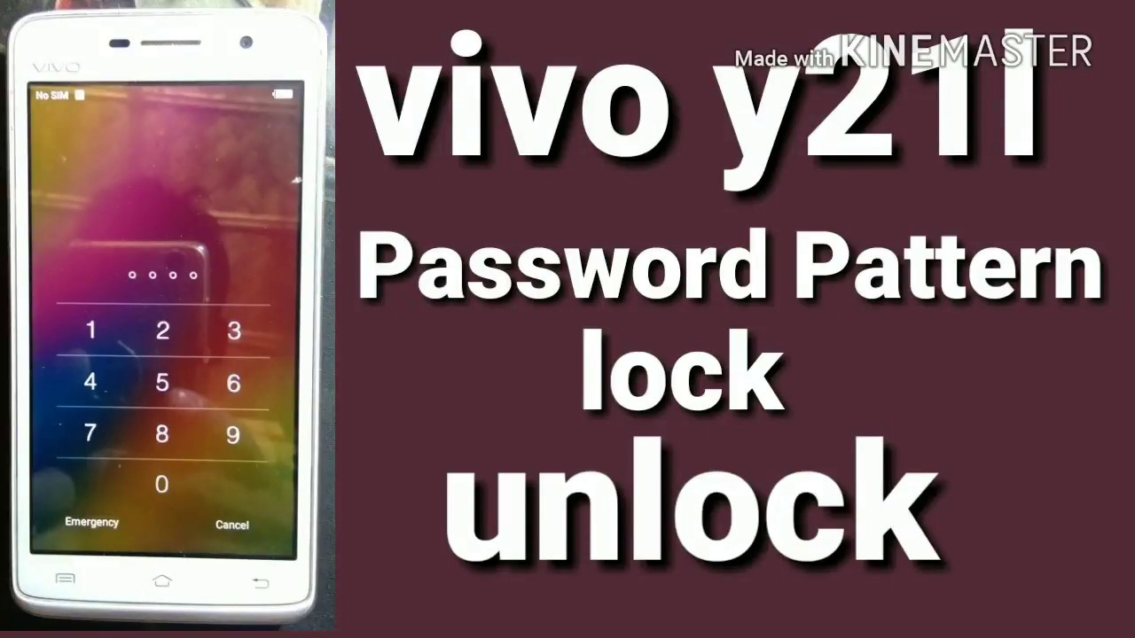 How to Remove VIVO Y21L Pattern lock Password lock Unlock