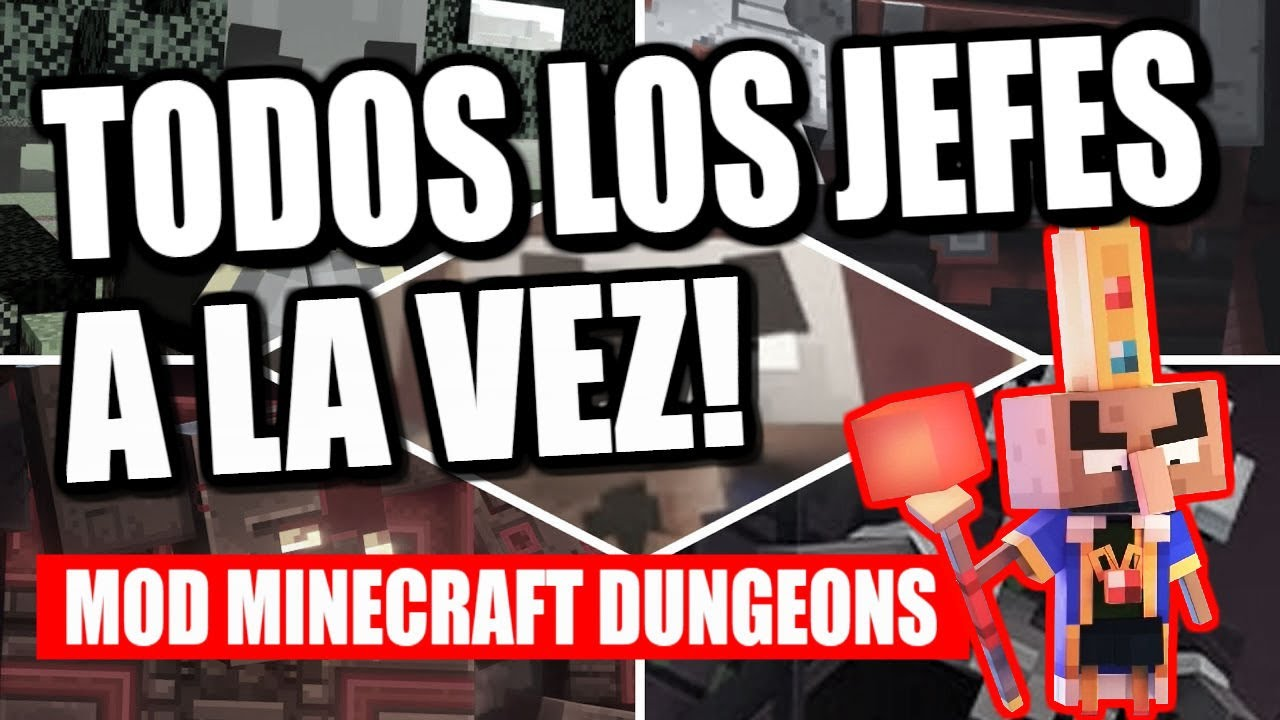 [MOD] BOSS RUSH 🔥 LUCHANDANDO contra TODOS los JEFES! (IMPOSIBLE) - MINECRAFT DUNGEONS - ALVIPAX