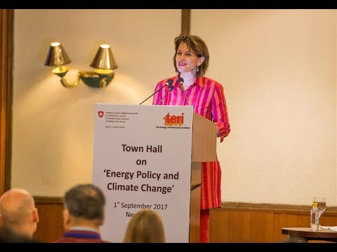 Talk by Swiss President Mrs. Doris Leuthard on Switzerland's energy policy and climate change