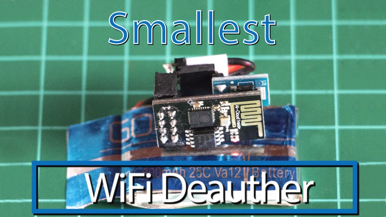 Smallest WiFi Deauther