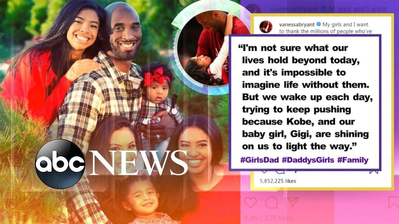 Kobe Bryant's wife shares tribute on Instagram l ABC News Смотри на OKTV.uz